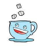 Cartoon tea cup Royalty Free Stock Photo