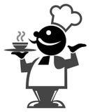 Cartoon tea man Royalty Free Stock Photos