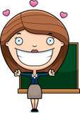 Cartoon Teacher Hug Stock Image
