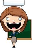 Cartoon Teacher Idea Stock Photo