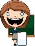Cartoon Teacher Sign Stock Photo