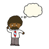 Cartoon teacher with thought bubble Stock Images