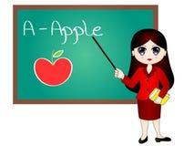 Cartoon Teacher Vector Illustration Royalty Free Stock Images