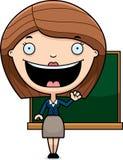 Cartoon Teacher Waving Stock Image