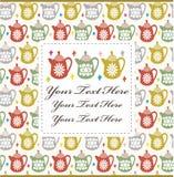 Cartoon teapot card Stock Image