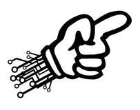 Cartoon tech hand pointing Royalty Free Stock Photography
