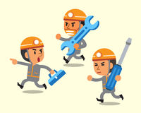 Cartoon technician team. For design Stock Images