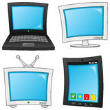 Cartoon Technology Objects Collection Stock Image