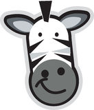 Cartoon teddy. Vector teddy zebra with strips and big smile on the face Royalty Free Stock Photography