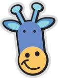 Cartoon teddy. Vector cartoon teddy toy face with smile Stock Photo