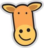 Cartoon teddy. Vector illustration of giraffe face with smile Royalty Free Stock Photos
