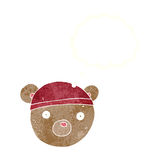 Cartoon teddy bear hat with thought bubble Royalty Free Stock Photos