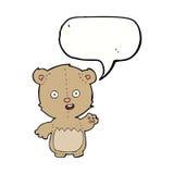 Cartoon teddy bear with speech bubble Royalty Free Stock Photography