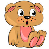 Cartoon teddy bear toy.  illustration Stock Photography