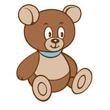 Cartoon teddy Bear. Vector illustration on a white background. Royalty Free Stock Image