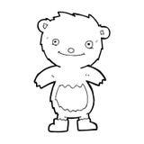 Cartoon teddy bear wearing boots Stock Image