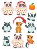 Cartoon teddy bears family Royalty Free Stock Photography