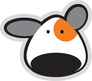 Cartoon teddy face Stock Images