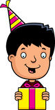 Cartoon Teen Boy Birthday Present Stock Images