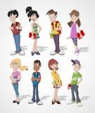 Cartoon teenager stock illustration