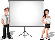 Cartoon teenagers Royalty Free Stock Image
