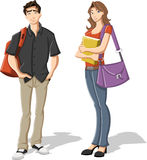 Cartoon Teenagers. Stock Photo