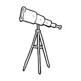 cartoon telescope Stock Photo