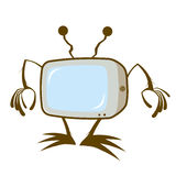 Cartoon television Royalty Free Stock Images