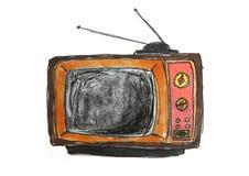 Cartoon Television Stock Photo