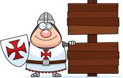 Cartoon Templar Sign Royalty Free Stock Image