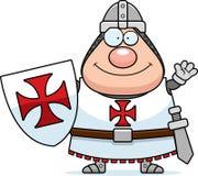 Cartoon Templar Waving Royalty Free Stock Photography