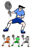 Cartoon tennis Stock Photo