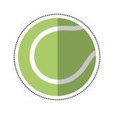 Cartoon tennis ball racket sport icon Royalty Free Stock Photo