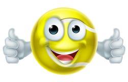 Cartoon Tennis Ball Thumbs Up Man Character Stock Images