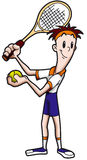 Cartoon of Tennis Player. Illustration Tennis player with racket and tennis ball Royalty Free Stock Image