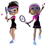 Cartoon Tennis Player Stock Image