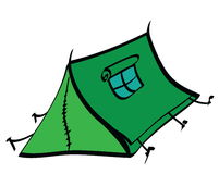 Cartoon tent icon Stock Photography