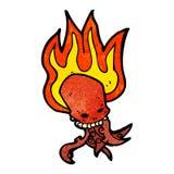 Cartoon tentacle skull Royalty Free Stock Image