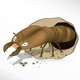 Cartoon termite vector Royalty Free Stock Image