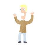 Cartoon terrified man Royalty Free Stock Images