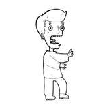 Cartoon terrified man Royalty Free Stock Images
