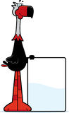 Cartoon Terror Bird Sign Stock Photography