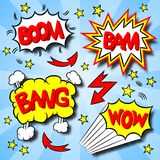 Cartoon text explosions. Vector illustration of some cartoon text explosions vector illustration