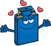Cartoon Textbook Hug Stock Photography