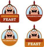 Cartoon Thanksgiving Indian Graphic Stock Photo