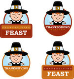 Cartoon Thanksgiving Pilgrim Boy Graphic Stock Photography