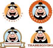 Cartoon Thanksgiving Pilgrim Graphic Stock Photo
