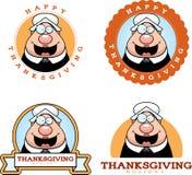 Cartoon Thanksgiving Pilgrim Graphic Royalty Free Stock Photography