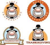 Cartoon Thanksgiving Pilgrim Graphic Stock Photos