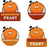 Cartoon Thanksgiving Pumpkin Graphic Royalty Free Stock Photography